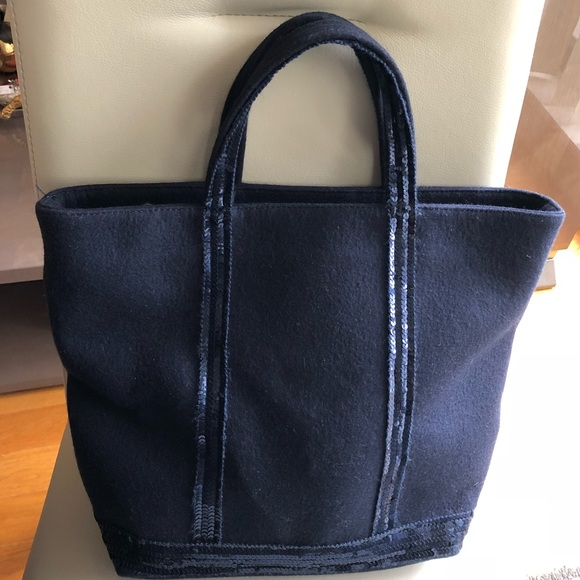 Vanessa Bruno Bags   Authentic Navy Sequined Tote Bag   Poshmark 5c73b6df85